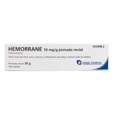 HEMORRANE 10 mg/g POMADA RECTAL 1...