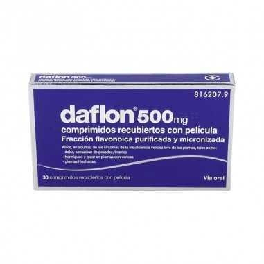 DAFLON 500 mg 30 COMPRIMIDOS RECUBIERTOS