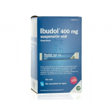 IBUDOL 400 MG 20 SOBRES SUSPENSION...
