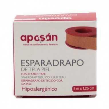 ESPARADRAPO APOSAN TELA PIEL 5 X 1.25 CM