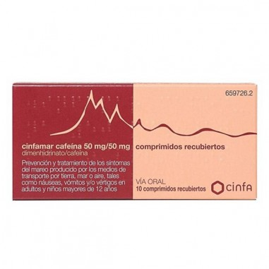 CINFAMAR CAFEINA 50 mg/50 mg 10...
