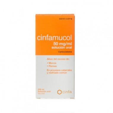 CINFAMUCOL CARBOCISTEINA 50 MG/ML...