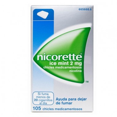 NICORETTE ICE MINT 2 mg 105 CHICLES...