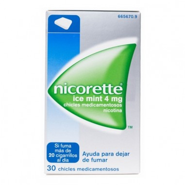 NICORETTE ICE MINT 4 mg 30 CHICLES...
