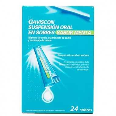 GAVISCON 24 SOBRES SUSPENSION ORAL 10...
