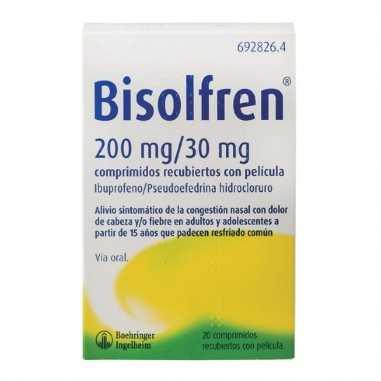 BISOLFREN 200 mg/30 mg 20 COMPRIMIDOS...