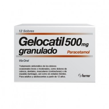 GELOCATIL 500 MG 12 SOBRES GRANULADO...