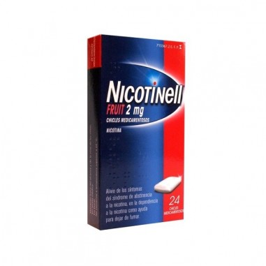 NICOTINELL FRUIT 2 MG 24 CHICLES...