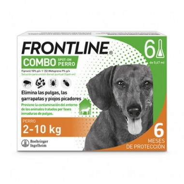 Frontline Combo Perros 2-10kg 6 Pipetas
