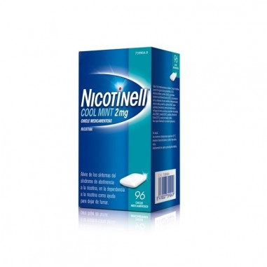 NICOTINELL COOL MINT 2 MG 96 CHICLES...