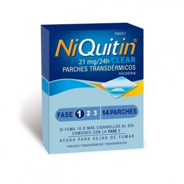 NIQUITIN CLEAR 21 MG/24 H 14 PARCHES...