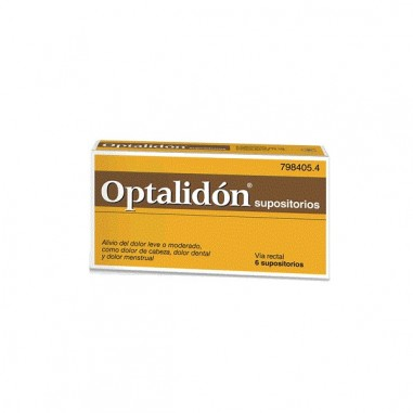 OPTALIDON 500 mg/75 mg 6 SUPOSITORIOS