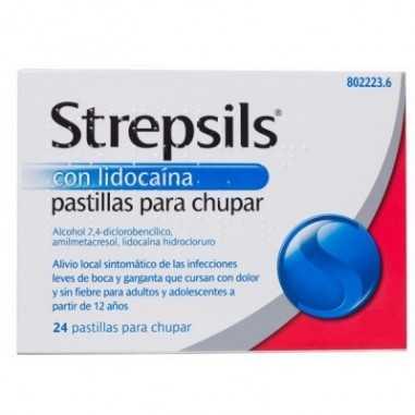 STREPSILS CON LIDOCAINA 24 PASTILLAS...