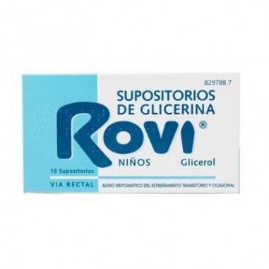 SUPOSITORIOS DE GLICERINA ROVI NIÑOS...