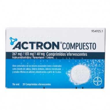 ACTRON COMPUESTO 267 mg/133 mg/40 mg...
