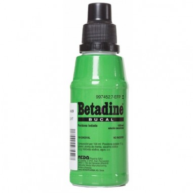 BETADINE BUCAL 100 mg/ml SOLUCION...