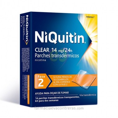 NIQUITIN CLEAR 14 MG/24 H 14 PARCHES...