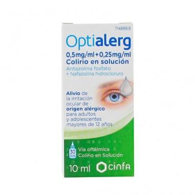 OPTIALERG 5 mg/ml + 0,25 mg/ml...