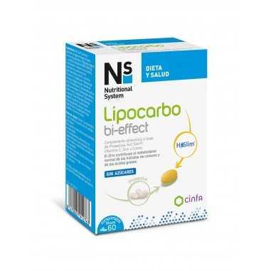 NS LIPOCARBO BI-EFFECT 60 COMPRIMIDOS...